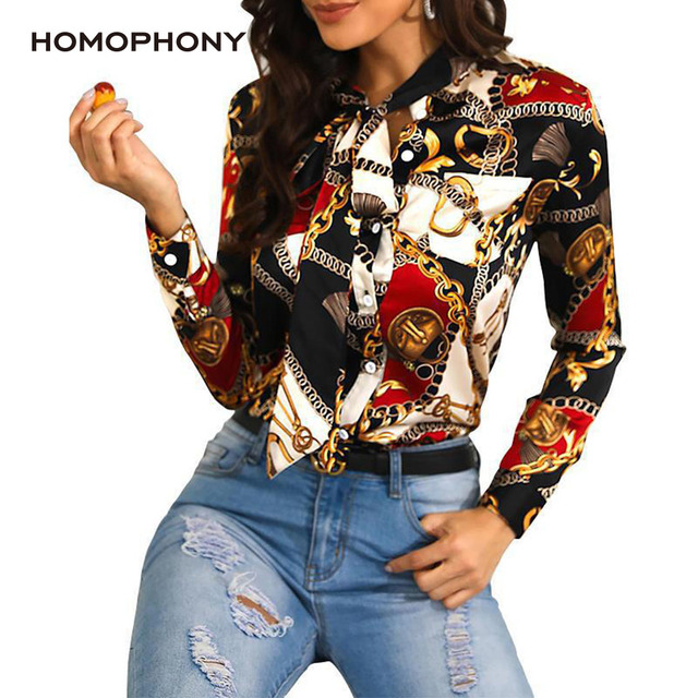 Homophony Slim Chain Blouse 1
