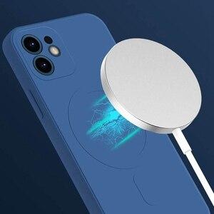 Image 5 - נוזל סיליקון מגנטי טלפון מקרה עבור iPhone 12 מיני 12 Max Pro Magsafe מקרה תמיכה אלחוטי טעינה זרוק הגנת כיסוי