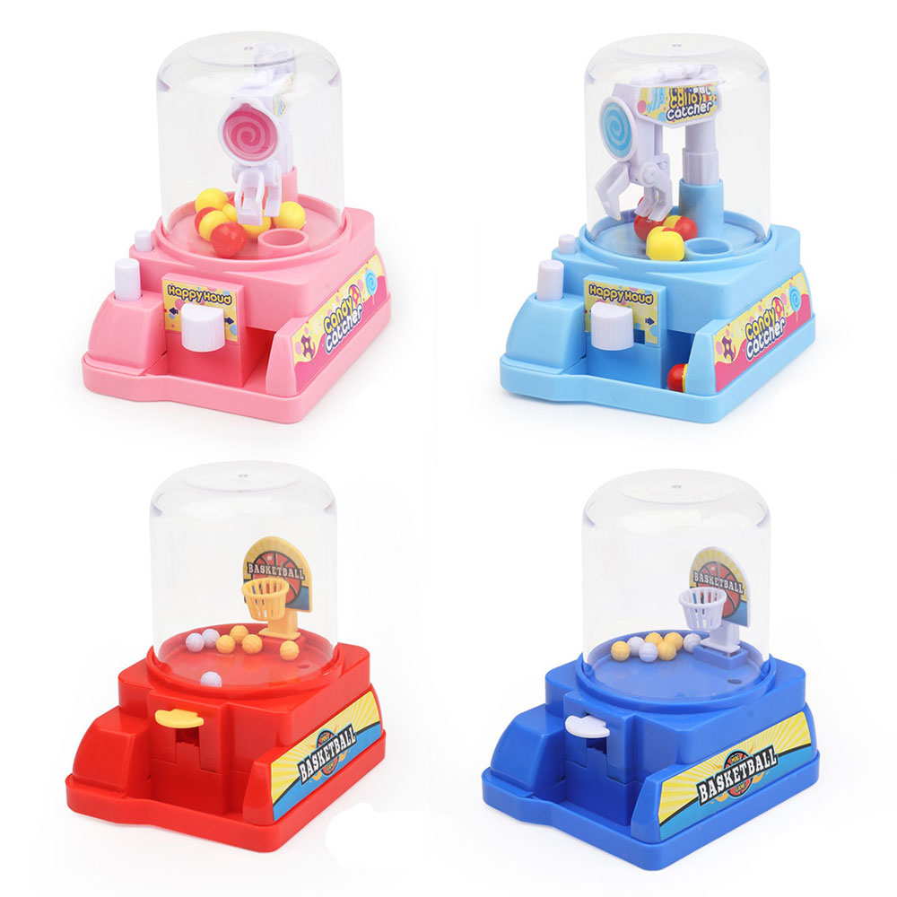 Children's Mini Simulation Catching Candy Claw Machine Grabber Doll Play Toys Interactive Manual Desktop Toys Doll Arcade Toy