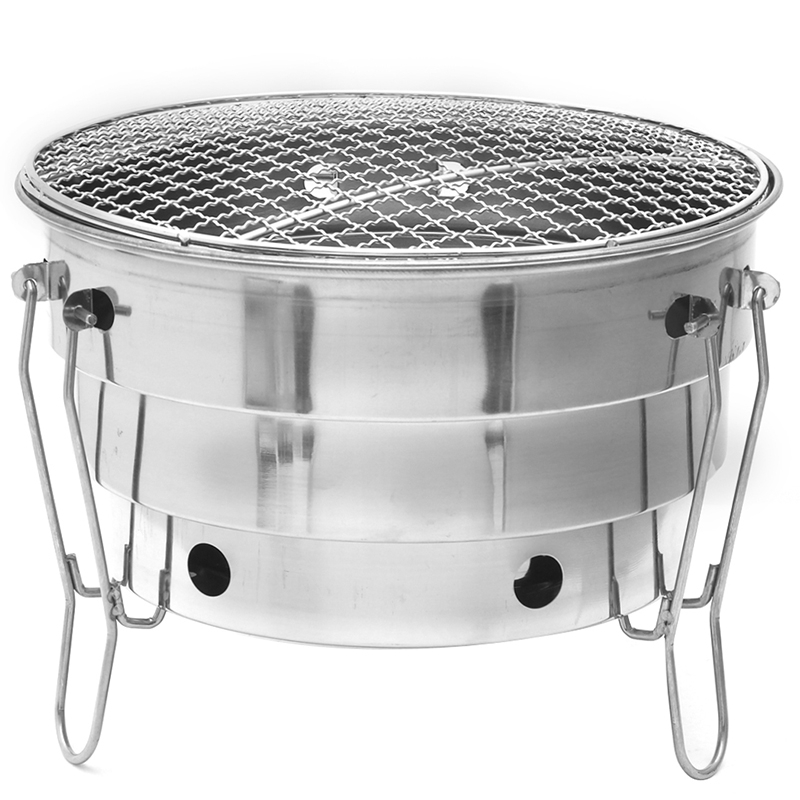 Stainless Steel Barbecue Charcoal Bbq Grill Foldable Portable Cooking Outdoor Camping Burner For Home Patio Stove Family Party|Outdoor Stoves| |  - title=