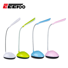 EeeToo LED Nachtlicht für Kinder Kinder Flexible Einstellbar Tragbare Lesen Schreibtisch Lampe AAA Batterie Betrieben Buch Lichter 4 Farben
