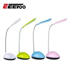 Светодиодный ночсветильник EeeToo для детей, гибкая Регулируемая портативная настольная лампа для чтения с питанием от батарейки AAA, 4 цвета s