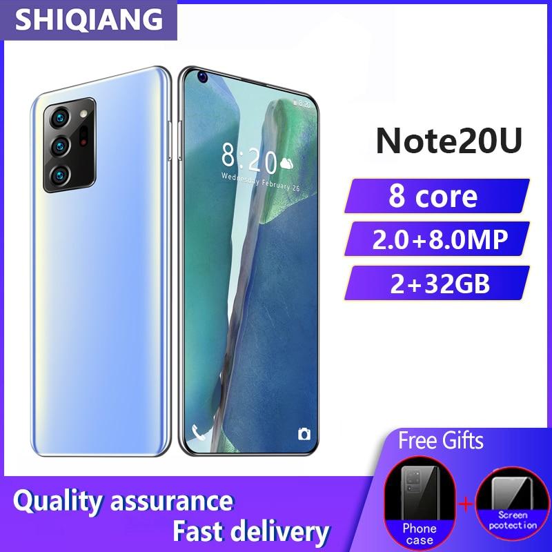 SOYES Note20u Smartphone RAM 2GB ROM 16GB 2MP + 8MP 6,8 pulgadas de pantalla 4800mAh tarjeta SIM Dual teléfono móvil Android desbloqueo facial