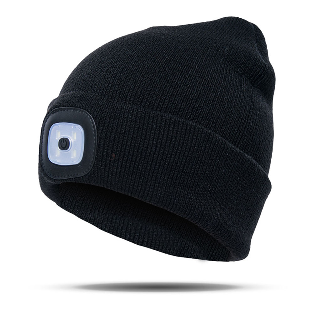 Fishing Climbing Beanie Camping Knitted LED Light Outdoor Unisex Running Hat