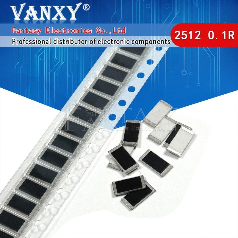 50 шт. 2512 SMD резистор 1 Вт 1% 0,1 R Ом R100