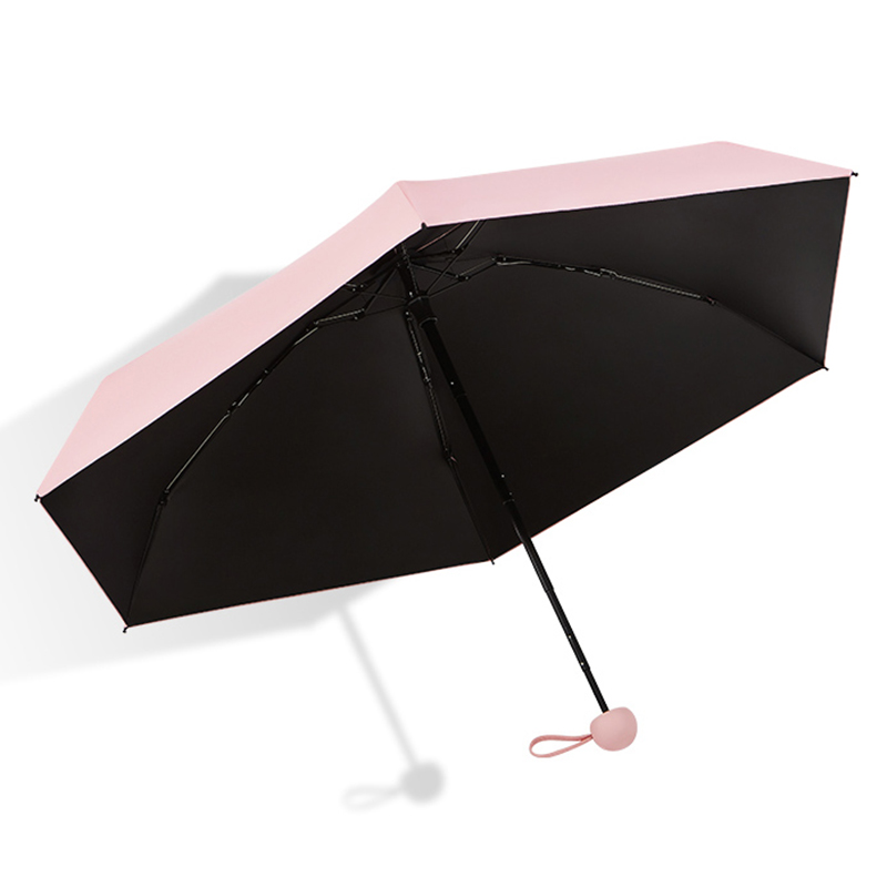 New Arrival Mini Umbrella Kids Windproof Colorful Pocket Umbrella Rain Women Anti UV Sun Protection Parasol 6K Small Umbrellas