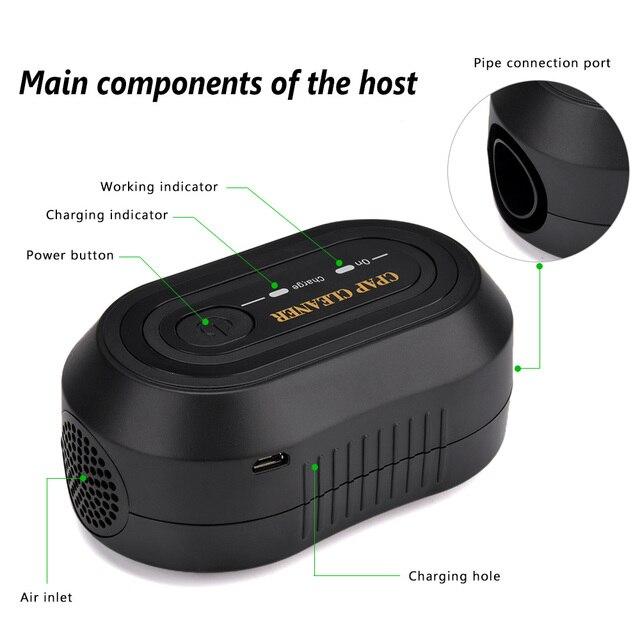 Portable CPAP Ozone Cleaner Ventilator Machine Sanitizer Disinfector Sleep Aid Breathing Auto Air Purifier Respirator Breathing 8