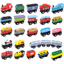 1PC Wooden Magnetic Train Car Locomotive Toy Wood Railway Car Accessories Toys for Kids Gifts Fit Wood New Biro Thomas Tracks