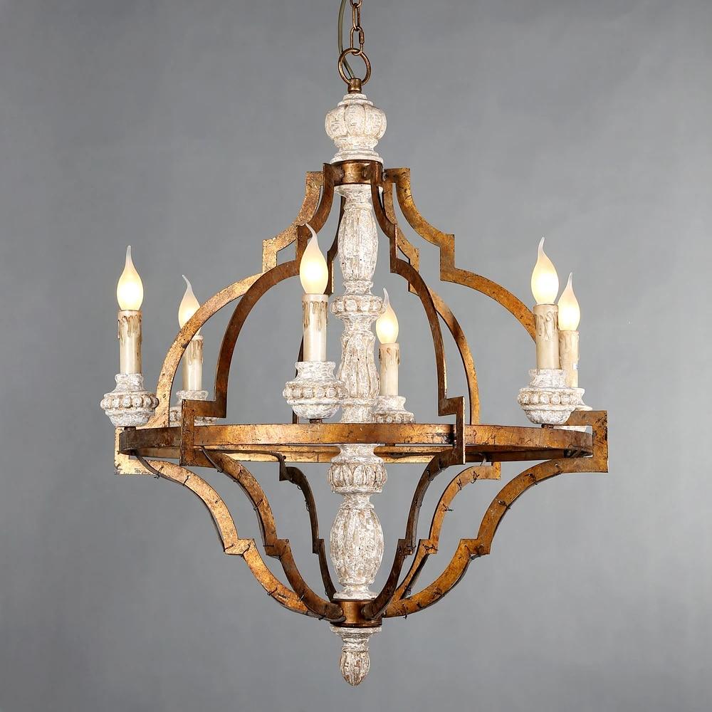 living room wood chandeliers golden lighting large vintage hanging light suspension retro chandelier classic french big lighting