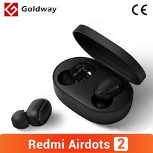 Xiaomi Redmi AirDots 2 bezprzewodowy zestaw słuchawkowy Bluetooth 5 0 TWS lewy prawy tryb niskiego opóźnienia Mi prawdziwe bezprzewodowe Stereo Auto Link tanie tanio Ucho NONE Dynamiczny CN (pochodzenie) wireless 104dB Dla Telefonu komórkowego Słuchawki HiFi Wspólna Słuchawkowe Brak