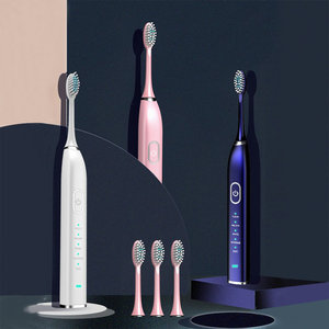Image 2 - 5 โหมดโซนิคไฟฟ้าแปรงสีฟันสมาร์ทUSBชาร์จอิเล็กทรอนิกส์ฟันแปรง 5 แปรงฟันหัว