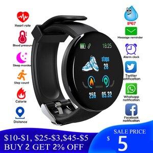 D18 Bluetooth Смарт часы для мужчин кровяное давление круглые умные часы для женщин спортивный трекер наручные часы для Android Ios Бесплатная доставк...