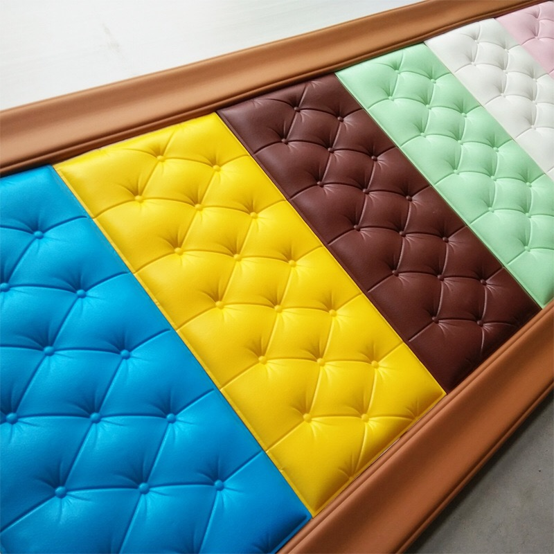 3D Sticker For Wall DIY Foam Soft Bag Tiles Wall Panels Home Decor Leather Waterproof Self Adhesive Wallpaper Kids Room 30*60cm