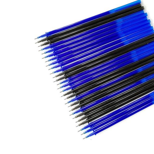 20Pcs/lot Magic Erasable Pen Refills Rod 0.5mm Office Gel Pen Washable Handle Blue Black Ink Pen School Writing Stationery 2