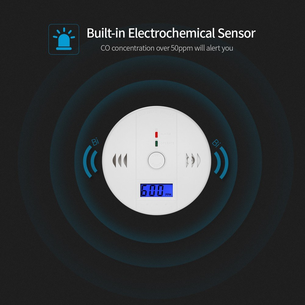 Image 3 - Carbon Monoxide Detector Independent CO Gas Sensor LCD Display 85dB Warning Alarm-in Carbon Monoxide Detectors from Security & Protection