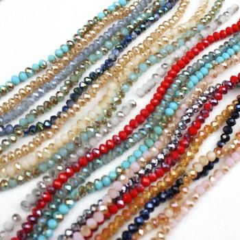 4 6 8mm Rondell Austria fasetowane kryształowe koraliki okrągłe szklane koraliki koraliki dystansowe luzem koraliki biżuteria dokonywanie DIY ustalenia akcesoria Lot tanie i dobre opinie cuffing season Beads 0 6cm Crystal Beads 0 8cm Ocena biżuteria Szkło JBECM101-199 APP 3x4mm 4x6mm 6x8mm App 0 8-1mm 1-1 5mm 1-1 5mm
