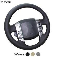 Couverture de Volant de voiture, noir, Beige, gris, Volant pour Land Rover Discovery 3 2004 2005 2006 2007 2008 2009, couture à la main, bricolage