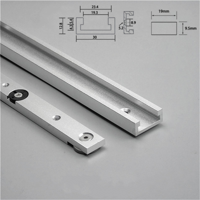 GKTOOLS 30 Aluminium Alloy T-tracks Slot Miter Track And Miter Bar Slider For DIY Table Saw Miter Gauge Rod Woodworking Tools