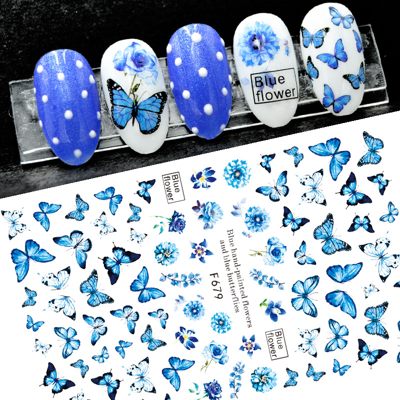 В виде бабочек; Лак для ногтей на спине клей деколь декорации дизайн ногтей Стикеры для дизайна ногтей советы Красота