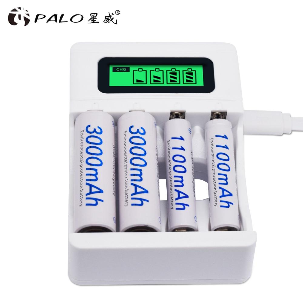 4 חריץ Ulrea מהיר חכם אינטליגנטי סוללה Usb מטען עבור 1.2V AA AAA NiCd NiMh נטענת סוללה LCD תצוגה מהיר מטען|chargere for aa|charger for4 slots - AliExpress
