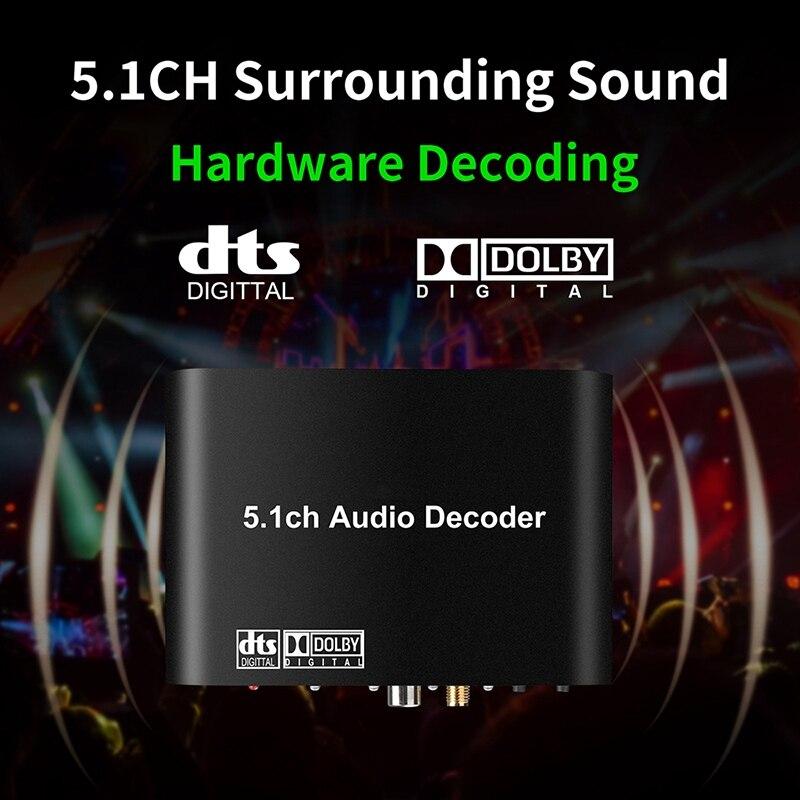 DAC615 DTS цифровой 5.1CH o декодер передач конвертер Bluetooth 5,0 USB музыкальный плеер SPDIF оптический Coxial вход-штепсельная вилка ЕС