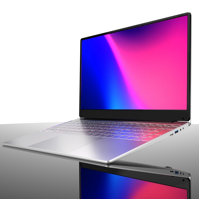 Laptop 15 6 Inch 8G RAM 128GB SSD Portable Ultra-Thin Laptop HD Quad Core Light Thin Notebook EU Plug