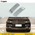 ABS передний бампер вентиляционное отверстие для Land Rover Range Rover 2014-2017 года серебристый цвет передняя решетка воздухозаборника автомобиля
