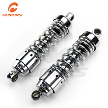 OUMURS 1Pair Motorcycle Shocks Rear Absorber Suspension Chrome For Honda Rebel 250 CMX250C CA2501986-2015 Motorcycle Accessories
