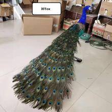 huge real life colourful peacock model foam&feather big simulation beautiful peacock bird gift about 150cm xf2395 цена в Москве и Питере