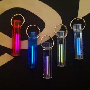 Image 4 - Автоматический светильник, газовая лампа Тритий, само светящееся кольцо для ключей, спасательный аварийный светильник s для безопасности на открытом воздухе и инструмент для выживания