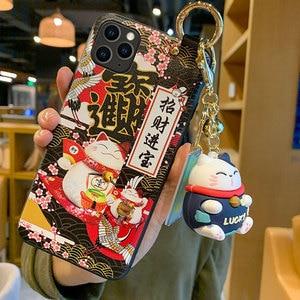 Image 5 - מזל חתול צמיד TPU טלפון נייד מקרה עבור Huawei P30 P40 מגן כיסוי עבור nova3 4 5 honor20pro סיליקון מקרי פגז