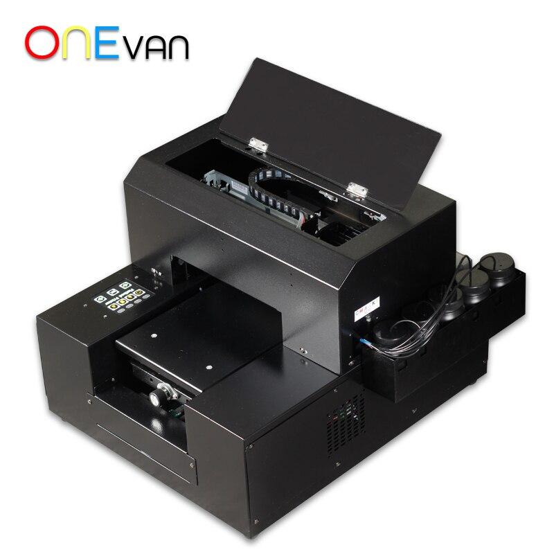ONEVAN. Automatische A4 UV Drucker LED UV Drucker UV Druckmaschine Für Telefon Fall Metall Glas Holz Mit Halter