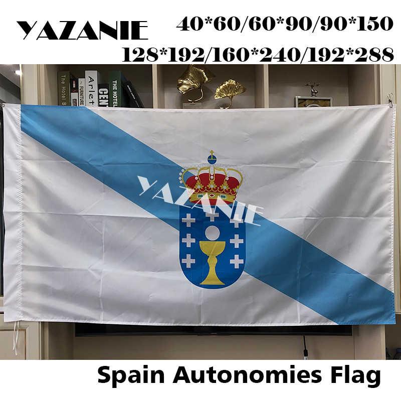 Balcony Flag Balcony Flag Spain Galicia Flag Flag for the Balcony 90x150cm