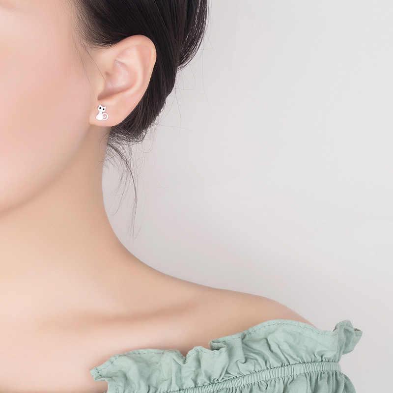 """Chất Liệu Bạc 925 Cryatsl Mèo Bông Bông Tai Nữ Giáng Sinh Trang Sức D'oreille Pendientes Plata De Ley 925 Mujer """"Eh071"""