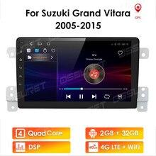 2 DIN Android 10 araba radyo 2 + 32 SUZUKI GRAND VITARA 2005-2015 için 2DIN otomatik ses araba stereo navigasyon ekran multimedya sistemi