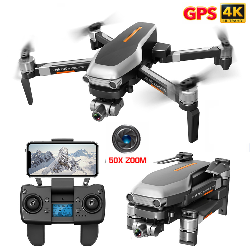 Profession Drone GPS 4K HD Two-Axis Anti-Shake Stable Gimbal Camera WIFI FPV Brushless Motor 1200m Long Distance RC Quadcopter
