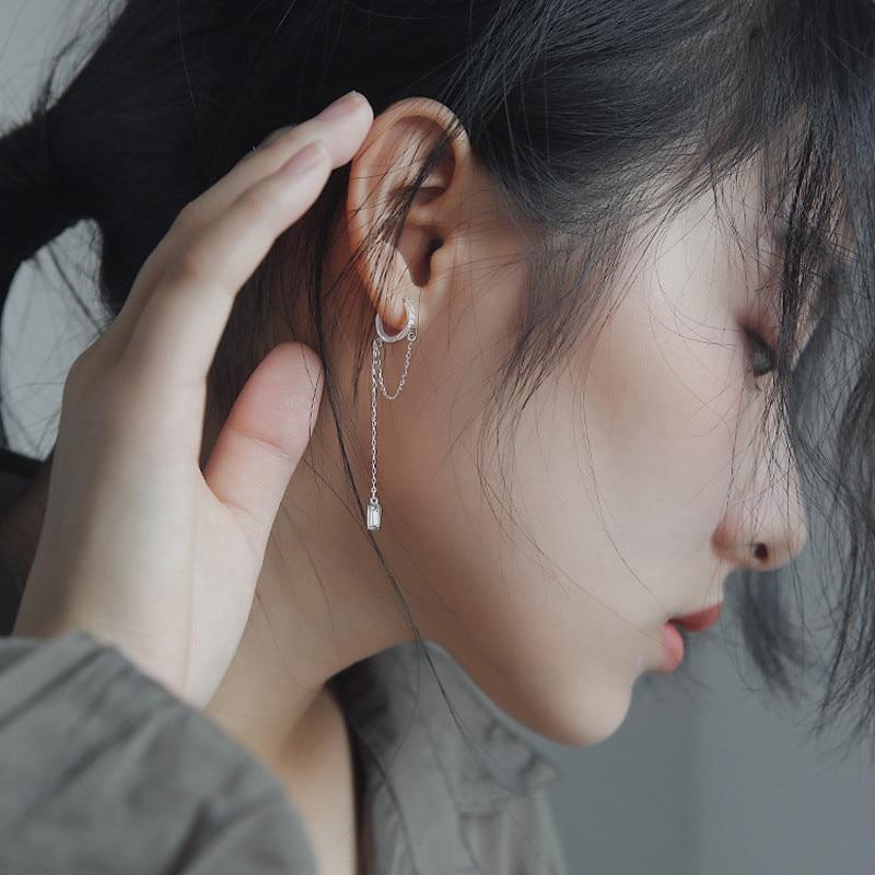 Крутые геометрические серьги DAIWUJAN INS с цирконом, круглые серьги кольца для женщин, корейские длинные одиночные серьги с кисточками, 2020 ювелирные изделия в стиле панк|Серьги-кольца| | АлиЭкспресс