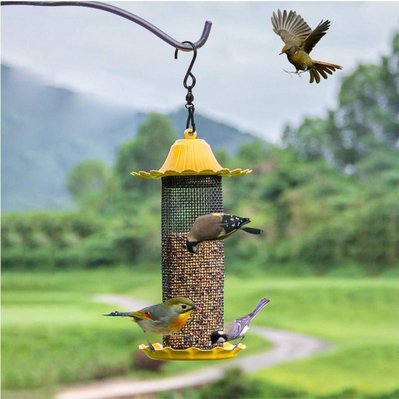 Stainless Steel S-Shape Rotating Wind Chimes Hook Bearing Hook Flower Basket Garden Decoration Accessories