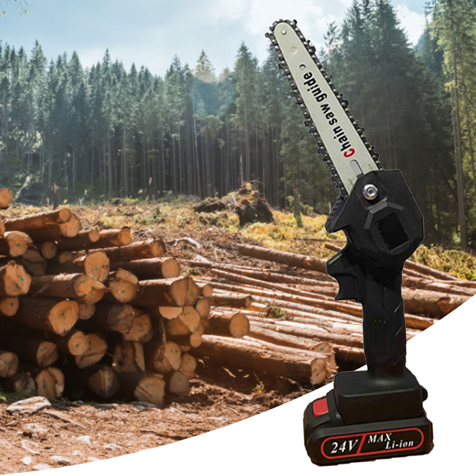 6 Tree Chainsaws Saw Battery Fruit Pruning One Removable For Trimming 550W Inch With Garden Mini Handed Electric Lithium