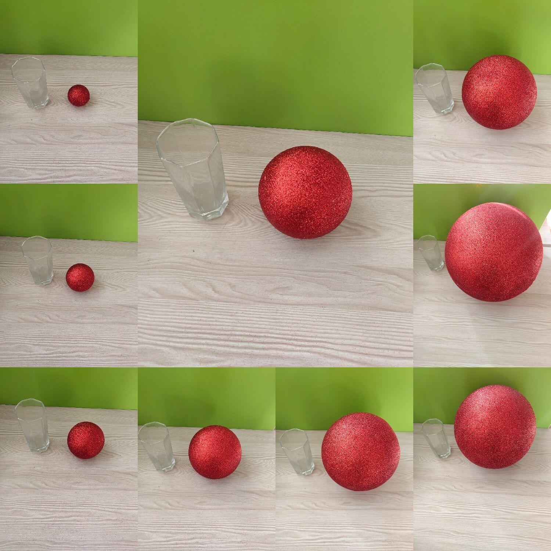 Red Polystyrene Styrofoam Foam Ball Party Wedding Festival Stage House Decoration DIY Handmade Materials 6-12cm(diameter)