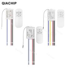 QIACHIP 1/2/3 דרך ממסר AC 220V RF מרחוק אלחוטי דיגיטלי שלט רחוק מתג מאוורר תקרת פנל שליטה מתג אור הנורה