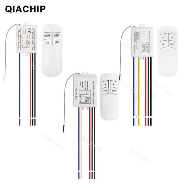 Qachip 1/2/3 Way Relay AC 220V RFรีโมทคอนโทรลไร้สายรีโมทคอนโทรลSwitchพัดลมแผงควบคุมสำหรับหลอดไฟ