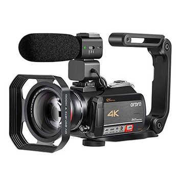 Ordro AC5 cámara de vídeo 4K Cámara full hd 12X Zoom óptico de la Cámara Filmadora para youtube blog streaming en directo