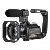 Cámara de vídeo de videocámara 4K ORDRO AC5 12X Zoom óptico Wifi Full HD Cámara Filmadora Vlog Cámara