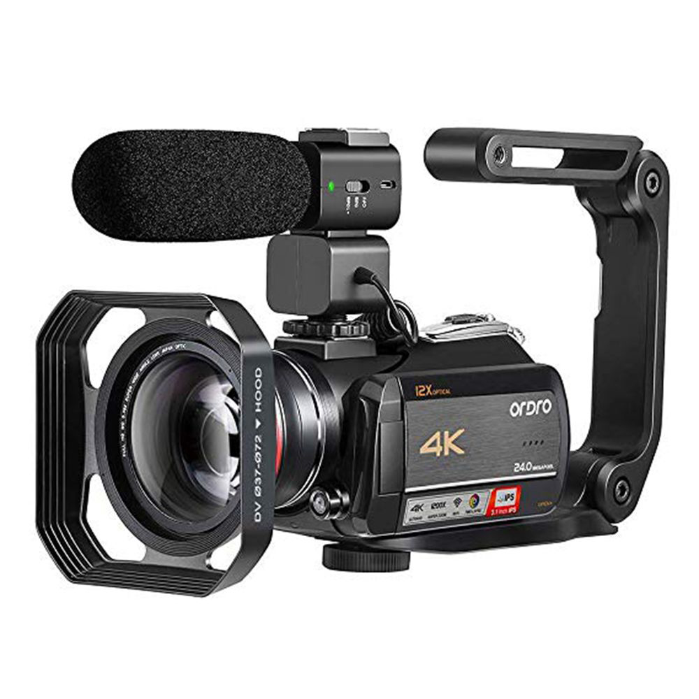 ORDRO Video-Camera Optical-Zoom Wifi Professional Camcorder 4k Filmadora AC5 Vlog 12X title=