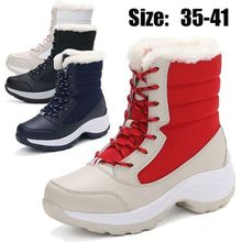New Snow Boots Warm Fur Female Winter Women Shoes Platform Ankle Bota Booties
