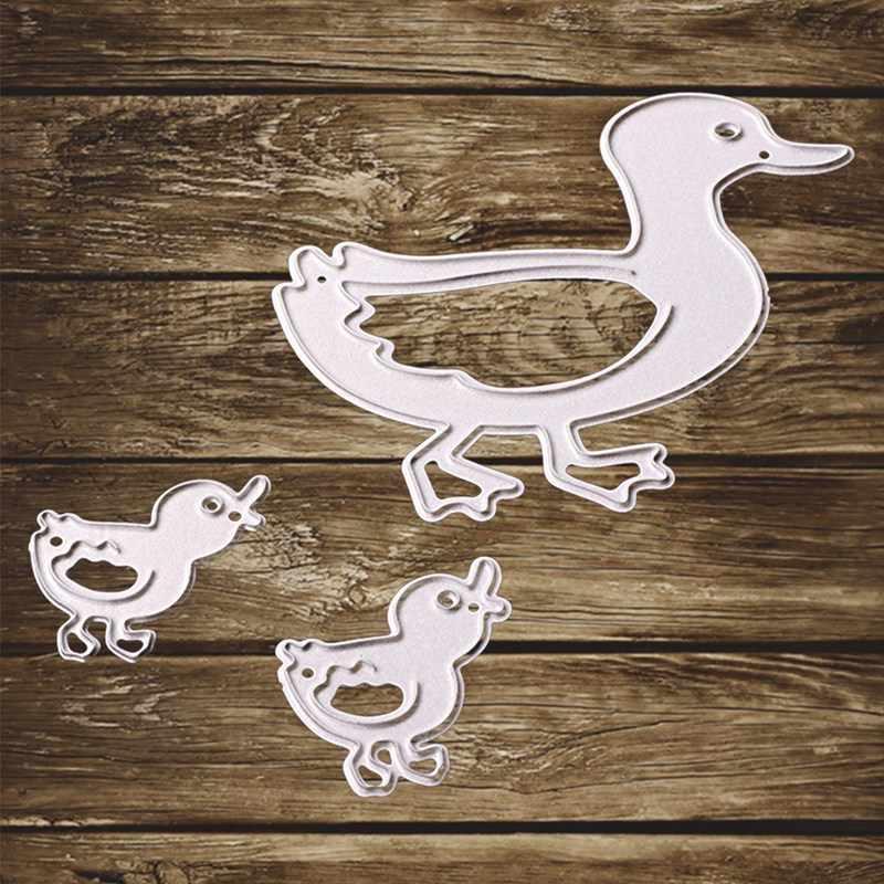 3 Stks/set! Liefde Eend Familie Stansmessen Stencil Diy Scrapbooking Album Card Embossing Ambachtelijke Nieuwe Aankomst Stansmessen Frame