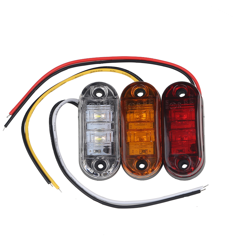 """25-3//4/"""" Amber LED Clearance Side Marker Bullet Trailer Light Truck Yellow PC"""