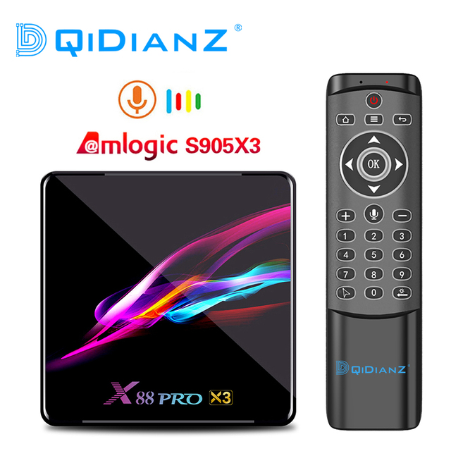 X88 PRO Amlogic S905X3  Android 9.0 TV Box 4GB 128GB 8K Quad core 1080p Google Voice Assistant Set top Box PK X96AIR H96 MAX X3