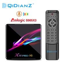 X88 プロ amlogic S905X3 アンドロイド 9.0 tv ボックス 4 ギガバイト 128 ギガバイト 8 760k クアッドコア 1080 1080p 音声アシスタントセットトップボックス pk X96AIR H96 最大 X3